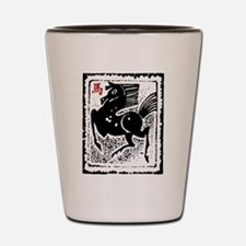 Chinese Zodiac Horse Artistic Design Shot Glass