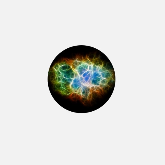 Crab Nebula Star Cloud Mini Button