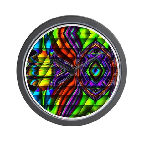 Stained Glass Peacock Wall Clock