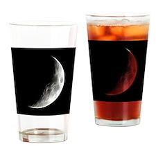 Quarter Moon Lunar Planet Globe Drinking Glass