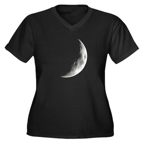 Quarter Moon Lunar Planet Globe Plus Size T-Shirt