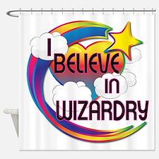 I Believe In Wizardry Cute Believer Design Shower