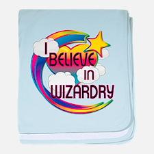 I Believe In Wizardry Cute Believer Design baby bl