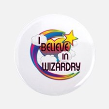 "I Believe In Wizardry Cute Believer Design 3.5"" Bu"