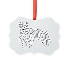 Briard Sketch Ornament