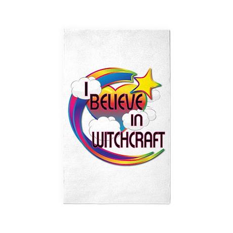 I Believe In Witchcraft Cute Believer Design 3'x5'