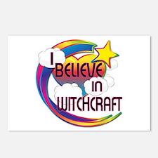 I Believe In Witchcraft Cute Believer Design Postc