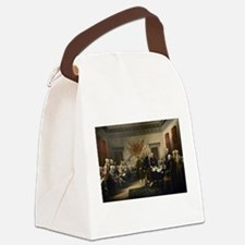 Declaration Independence Canvas Lunch Bag
