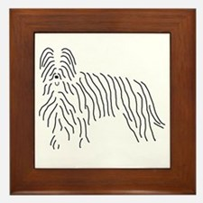 Briard Sketch Framed Tile