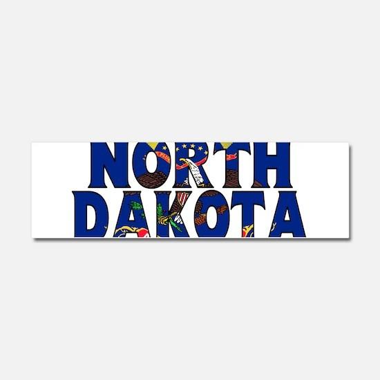 North Dakota Car Magnet 10 x 3