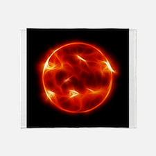 Sun Sol Star Sphere Throw Blanket
