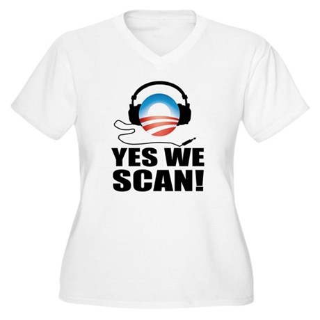 Yes We Scan Women's Plus Size V-Neck T-Shirt