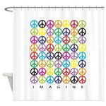 ImagineWHTVT.png Shower Curtain