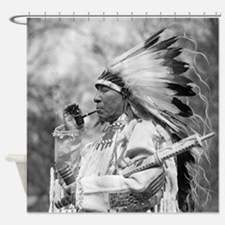 Indian Chief Whirlwind Soldier Shower Curtain
