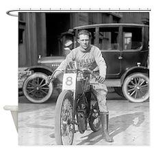 Harley-Davidson Motorcycle Racer Shower Curtain