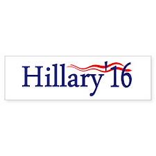 Hillary 16: Bumper Bumper Sticker