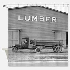 Early Ford Tractor Trailer Shower Curtain