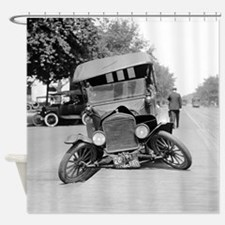 Crashed Ford Model T Shower Curtain