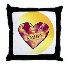 AMIGA on Heart of Sunshine Throw Pillow