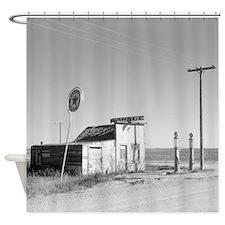 Abandoned Texaco Station Shower Curtain