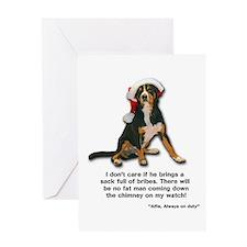 Not on My Watch! Entlebucher Christmas Card