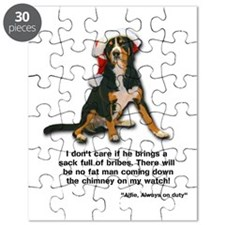 Not on My Watch! Entlebucher Christmas Puzzle
