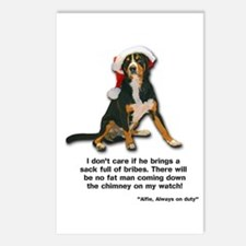 Not on My Watch! Entlebucher Christmas Postcards (