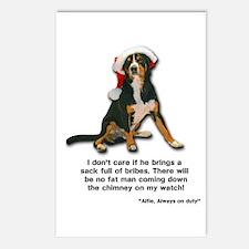 Not on My Watch! Entlebucher Christmas Postcards (
