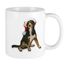 Entlebucher Mountain Dog Santa Hat Mugs