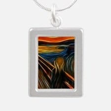 The Scream Fractal Painting Edvard Munch Necklaces