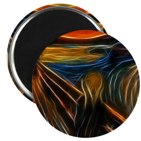 The Scream Fractal Painting Edvard Munch Magnets