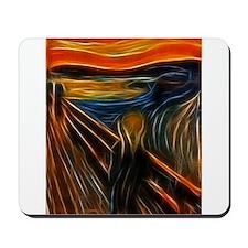 The Scream Fractal Painting Edvard Munch Mousepad