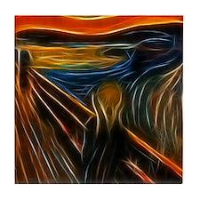 The Scream Fractal Painting Edvard Munch Tile Coas