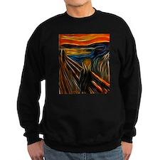 The Scream Fractal Painting Edvard Munch Sweatshir
