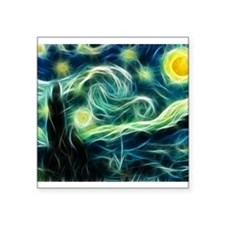 Starry Night Van Gogh Fractal Art Sticker