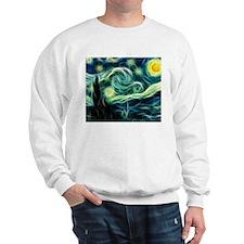 Starry Night Van Gogh Fractal Art Sweatshirt