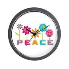 014Peace2VT.png Wall Clock