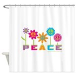 014Peace2VT.png Shower Curtain