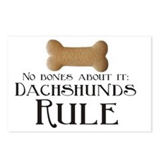 No Bones - Doxies Rule Postcards (Package of 8)