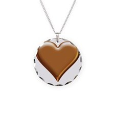Gold Look Heart Necklace