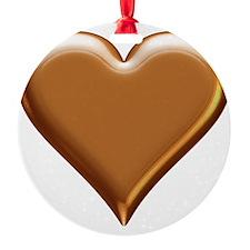 Gold Look Heart Ornament