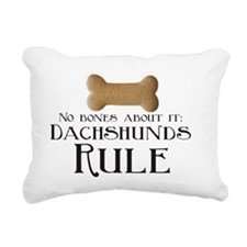 No Bones - Doxies Rule Rectangular Canvas Pillow