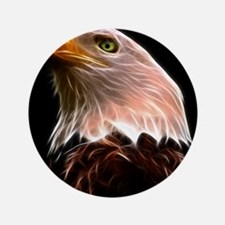 "American Bald Eagle Head 3.5"" Button (100 pack)"