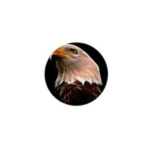 American Bald Eagle Head Mini Button