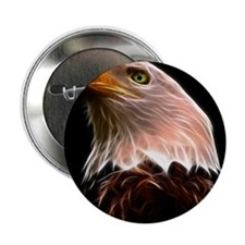 "American Bald Eagle Head 2.25"" Button"