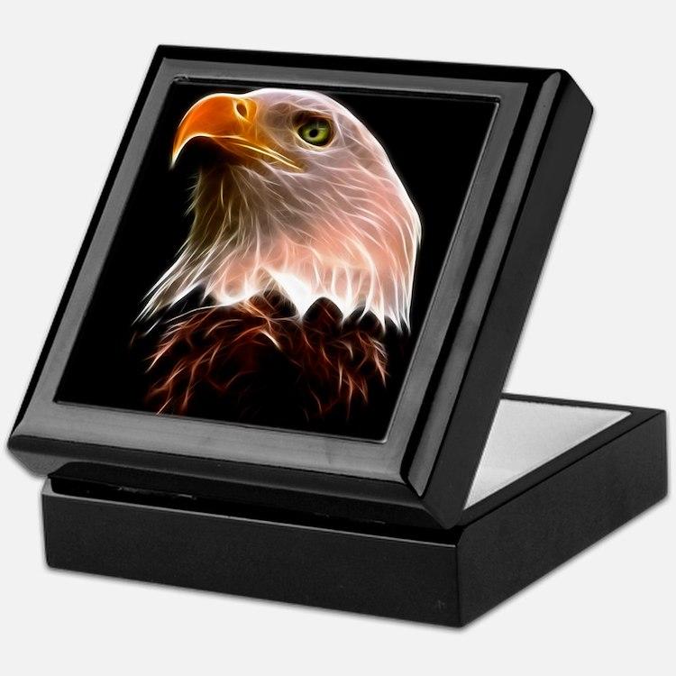 American Bald Eagle Head Keepsake Box