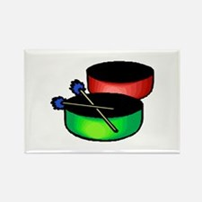 steel pan drums red green Magnets