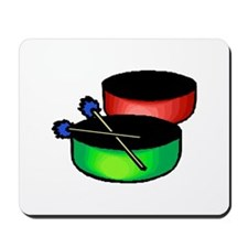 steel pan drums red green Mousepad