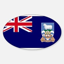Falkand Islands Oval Decal