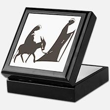 Mary and Joseph and Donkey Keepsake Box